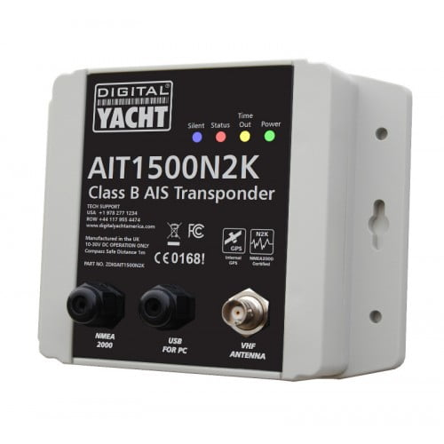 Digital Yacht AIT1500 N2K Class B AIS Transceiver with Internal GPS Antenna