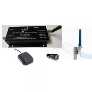 QK026 + GPS & VHF antennas +12V plug