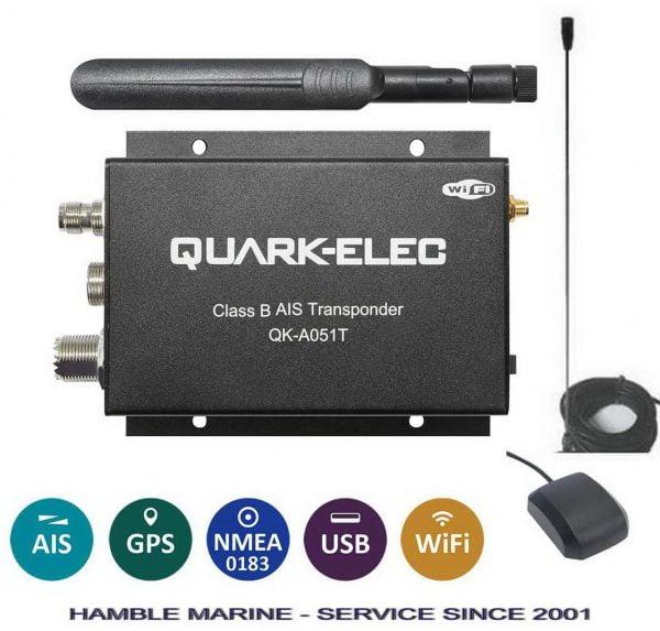 QK051 AIS Transponder + VHF Antenna